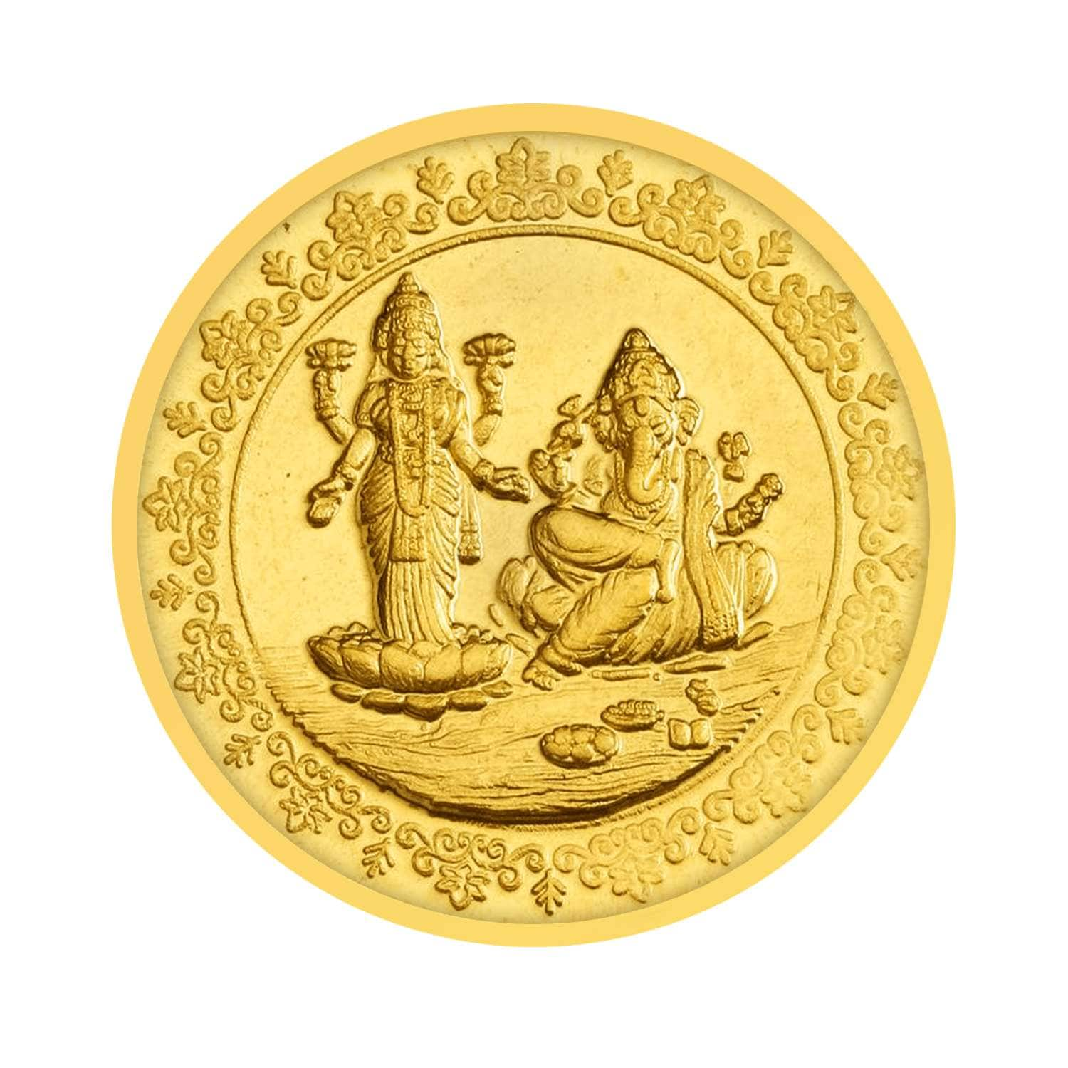 Tanishq 24 Kt Gold Coins Id 600113zcaras00 Buy Online Titan