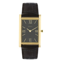 Nebula 18KT Solid Gold Analog Watch for Men with Black Dial