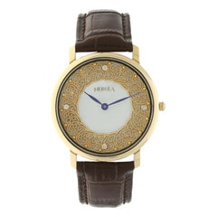 Titan Nebula 18Kt Solid Gold watch for Men Gold dial