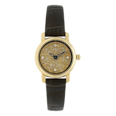 Titan Nebula 18Kt Solid Gold watch for Women with Mother of Pearl dial with Filigree work