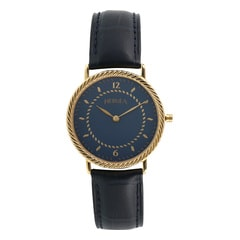 Nebula 18KT Solid Gold and Steel Analog Watch for Men with Blue Dial