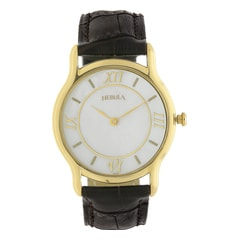 Nebula 18KT Solid Gold Analog Watch for Men with Mother of Pearl Dial