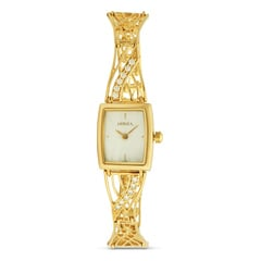 Titan Nebula 18KT Solid Gold Watch For Women in White Dial-ND5501DM01