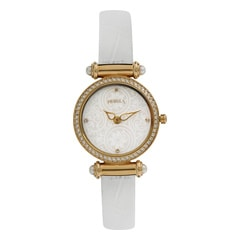 Nebula 18KT Solid Gold Analog Watch for Women with Mother of Pearl Dial