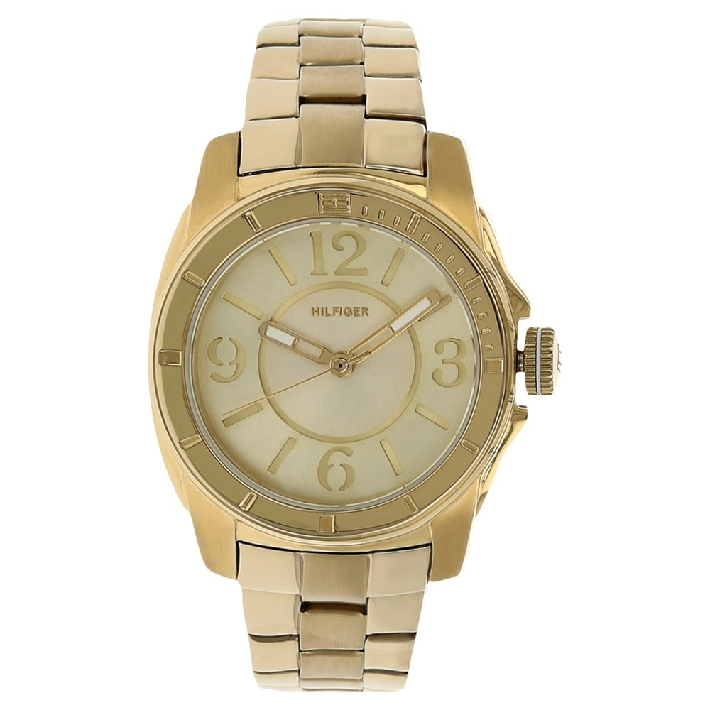 helios tommy hilfiger rose gold round dial watch id. Black Bedroom Furniture Sets. Home Design Ideas