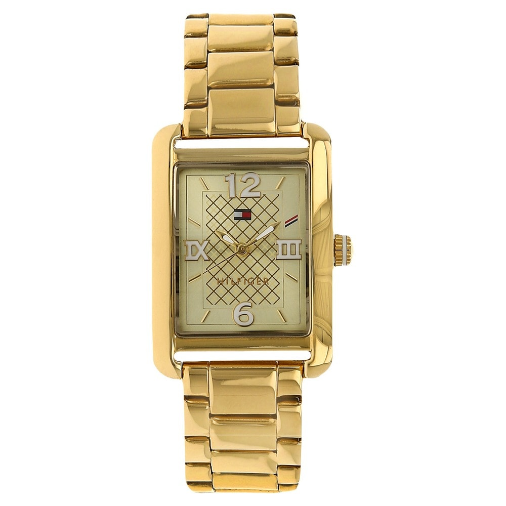 helios tommy hilfiger rose gold rectangle dial watch id. Black Bedroom Furniture Sets. Home Design Ideas