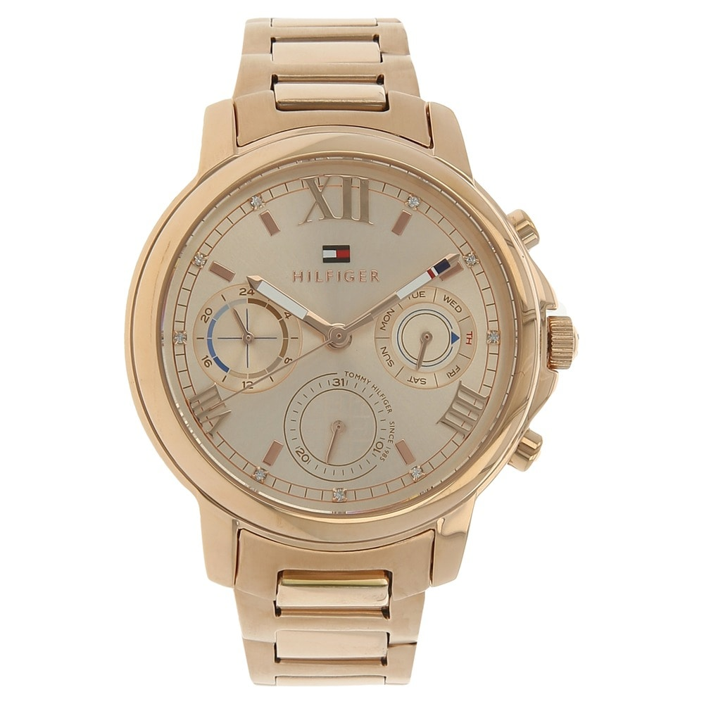 tommy hilfiger multifunction rose gold rose gold watch for women th1781743j buy online at titan. Black Bedroom Furniture Sets. Home Design Ideas