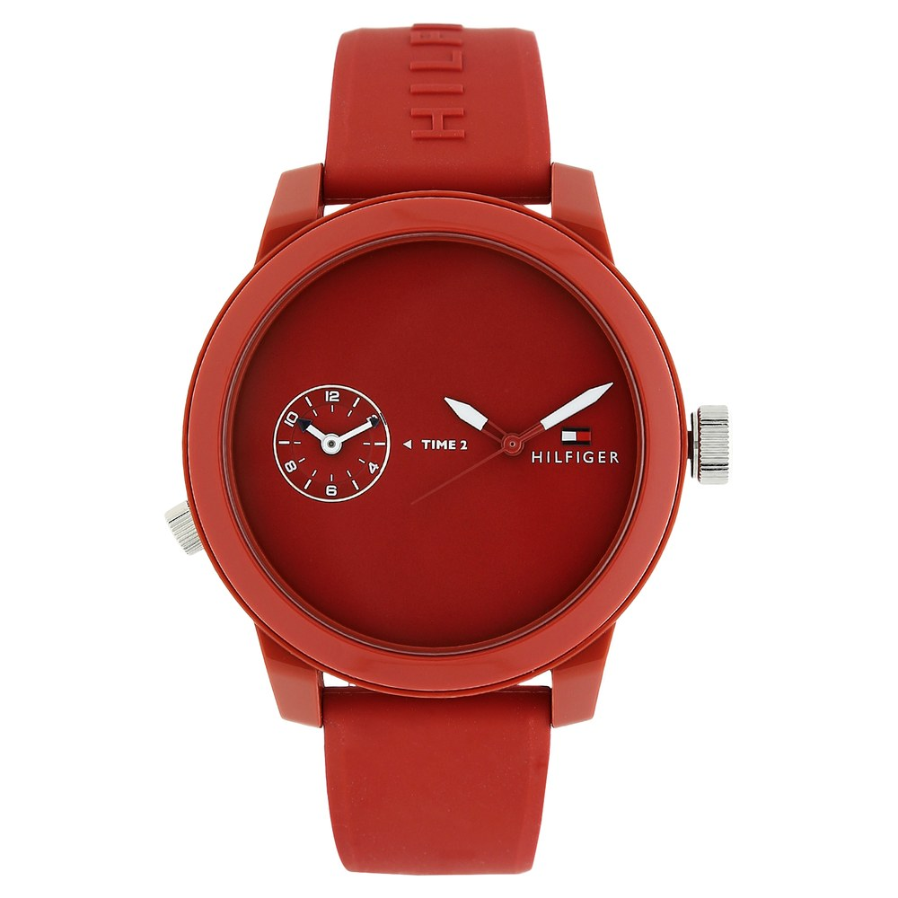 rubber watch red men dial mens watches s company diesel