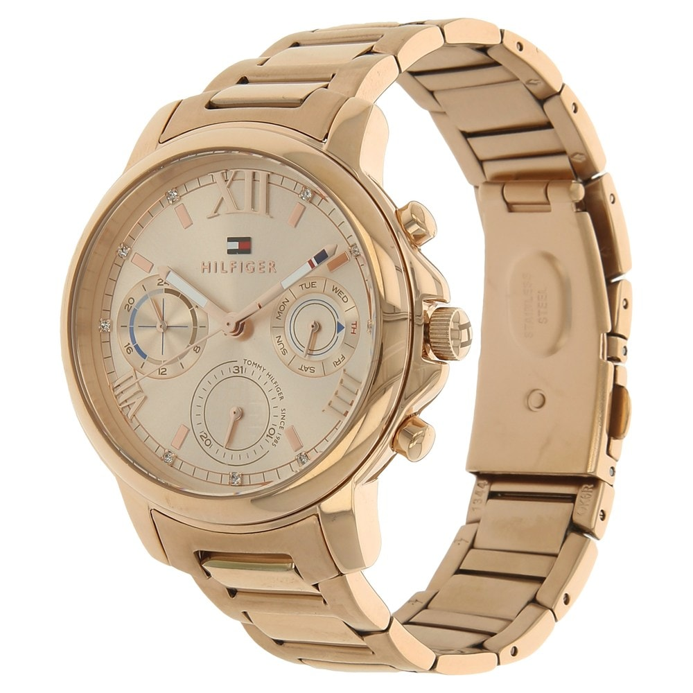 tommy hilfiger multifunction rose gold rose gold watch for. Black Bedroom Furniture Sets. Home Design Ideas