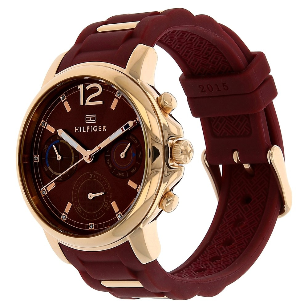 shop relish for watch fancy series maroon women watches analog