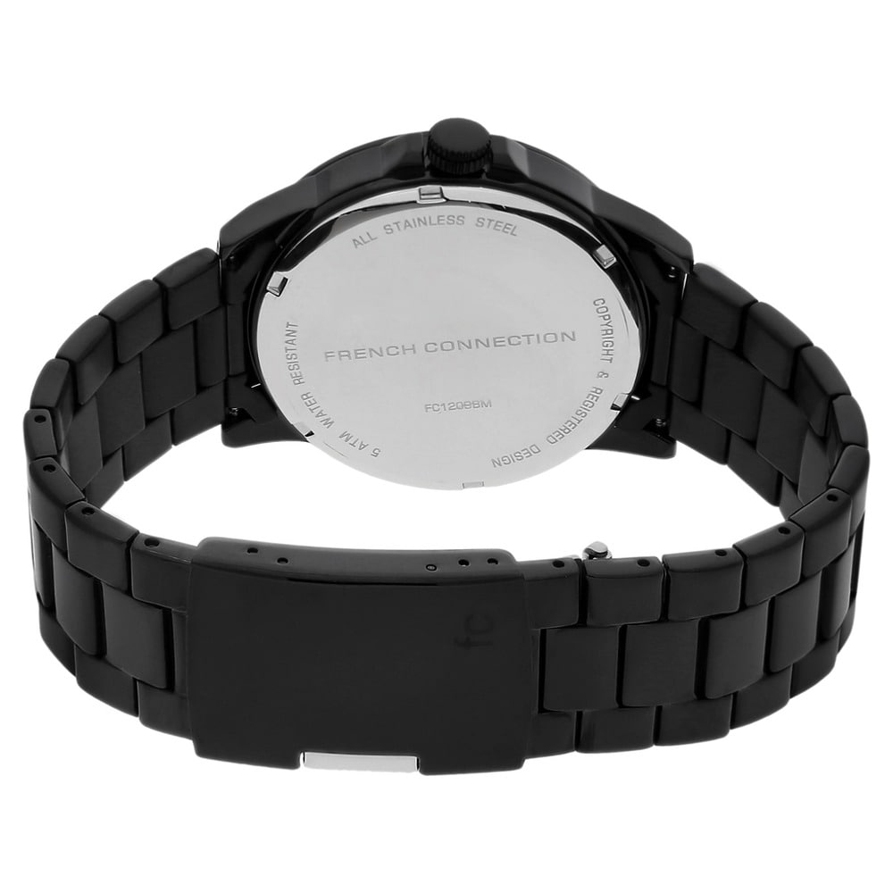 Helios FCUK Black Round Dial Watch ID FC1209BMGJ Buy Online
