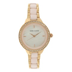Anne Klein Blush Mother of Pearl Dial Analog Watch for Women