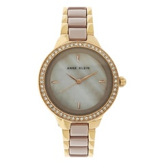 Anne Klein Grey Mother of Pearl Dial Analog Watch for Women