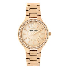 Anne Klein Rose Gold Mother of Pearl Dial Analog Watch for Women
