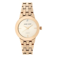 Anne Klein Rose Gold Sunray Dial Analog Watch for Women