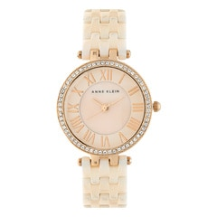 Anne Klein Pink Mother of Pearl Dial Analog Watch for Women