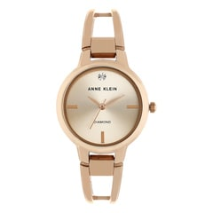 Anne Klein Rose Gold Dial Analog Watch for Women