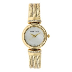 Anne Klein White Mother of Pearl Dial Analog Watch for Women