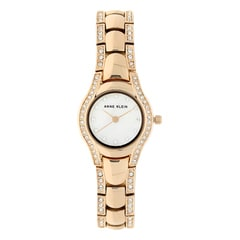 Anne Klein White Dial Metal Strap Watch for Women