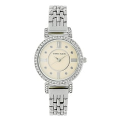 Anne Klein Beige Dial Metal Strap Watch for Women