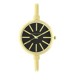 Anne Klein Black Dial Analog Watch for Women with Additional Stack Bangles and Bracelets