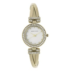 Anne Klein Mother of Pearl Dial Analog Watch for Women with Additional Stack Bangles and Bracelets
