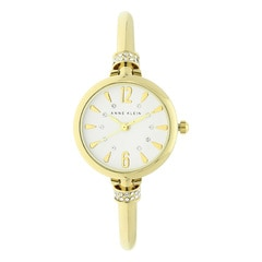 Anne Klein Silver Dial Analog Watch for Women with Additional Stack Bangles and Bracelets