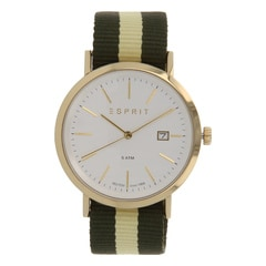 Esprit Silver White Dial Analog Watch for Men