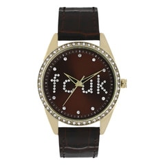 FCUK Black Dial Analog Watch For Women-FC1009TGWN