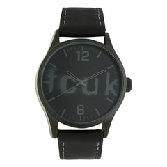 FCUK Black Dial Analog Watch for Men