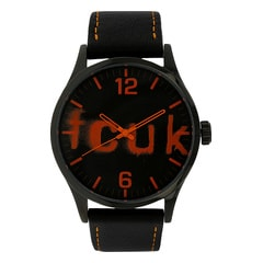 FCUK Round Dial Analog Watch for Men-FC1096OOLGJ
