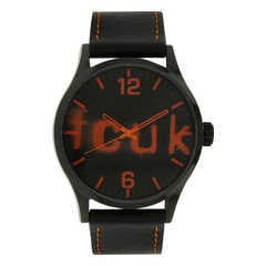 FCUK Black Dial Analog Watch for Men-FC1096OOLGN