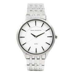 FCUK White Dial Analog Watch For Men-FC1166SMGJ