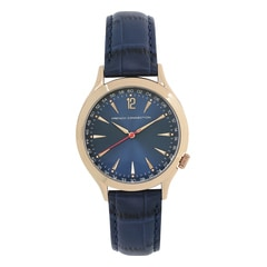 FCUK Blue Dial Leather Strap Watch for Men