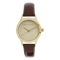 White Dial Leather Strap Watches