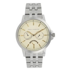 FCUK Ivory Dial Watch For Men-FC1232SMGJ