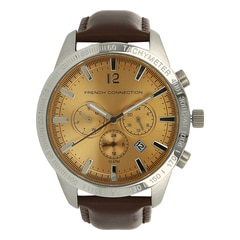 FCUK Beige Dial Watch For Men-FC1236TGJ