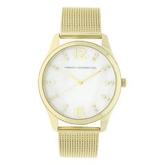 FCUK Silver Dial Metal Strap Watch for Women