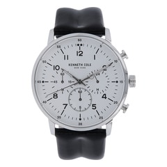 Kenneth Cole White Dial Chronograph Watch for Men