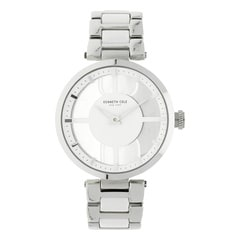 Kenneth Cole White Dial Metal Strap Watch for Women