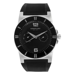 Kenneth Cole Black Dial Multifunction Watch for Men
