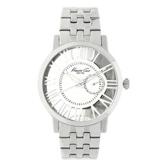 Kenneth Cole Silver Dial Multifunction Watch for Men