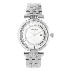 Kenneth Cole Silver Dial Metal Strap Watch for Women