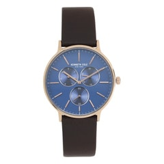 Kenneth Cole Classic Blue Dial Multifunction Watch for Men