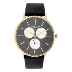 Kenneth Cole Classic Black Dial Multifunction Watch for Men