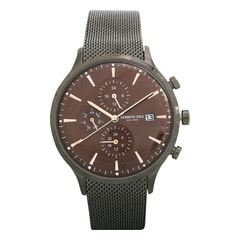 Kenneth Cole Brown Dial Multifunction Watch for Men