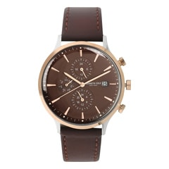 Kenneth Cole Brown Dial Chronograph Watch for Men