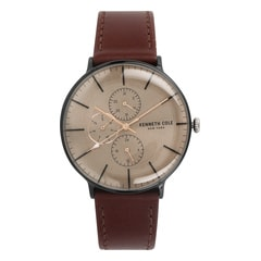 Kenneth Cole Beige Dial Chronograph Watch for Men