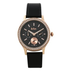 Lee Cooper Black Dial Analog Watch for Women