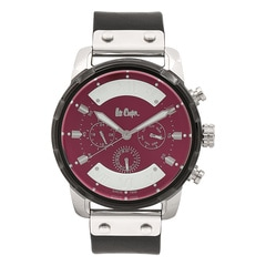 Lee Cooper Maroon Dial Analog Watch for Men